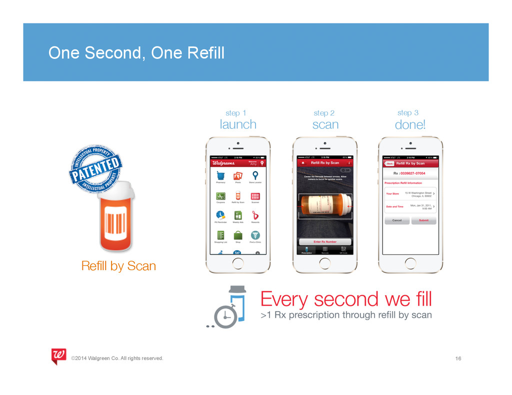 One Second, One Refill 16 Refill by Scan step 1...