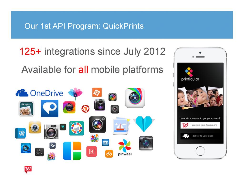 Our 1st API Program: QuickPrints 125+ integrati...