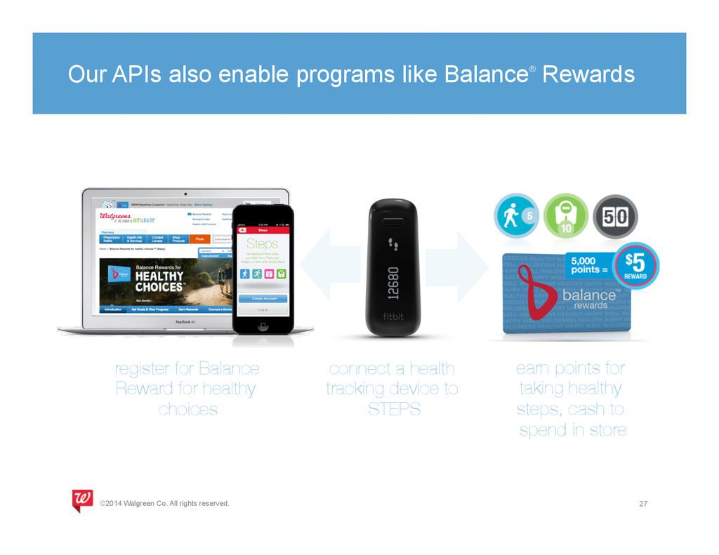 Our APIs also enable programs like Balance® Rew...
