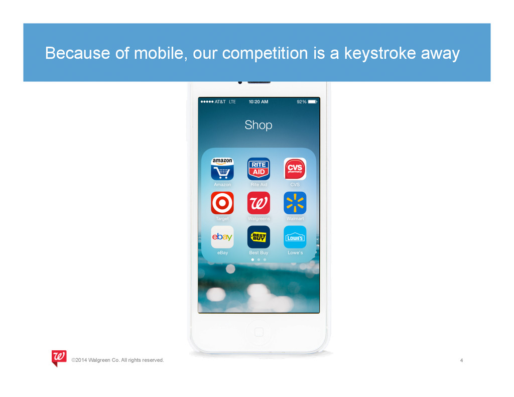 Because of mobile, our competition is a keystro...