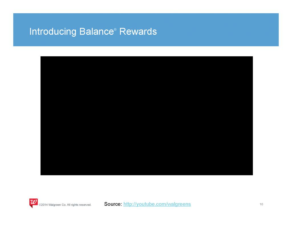 Introducing Balance® Rewards 10 ©2014 Walgreen ...