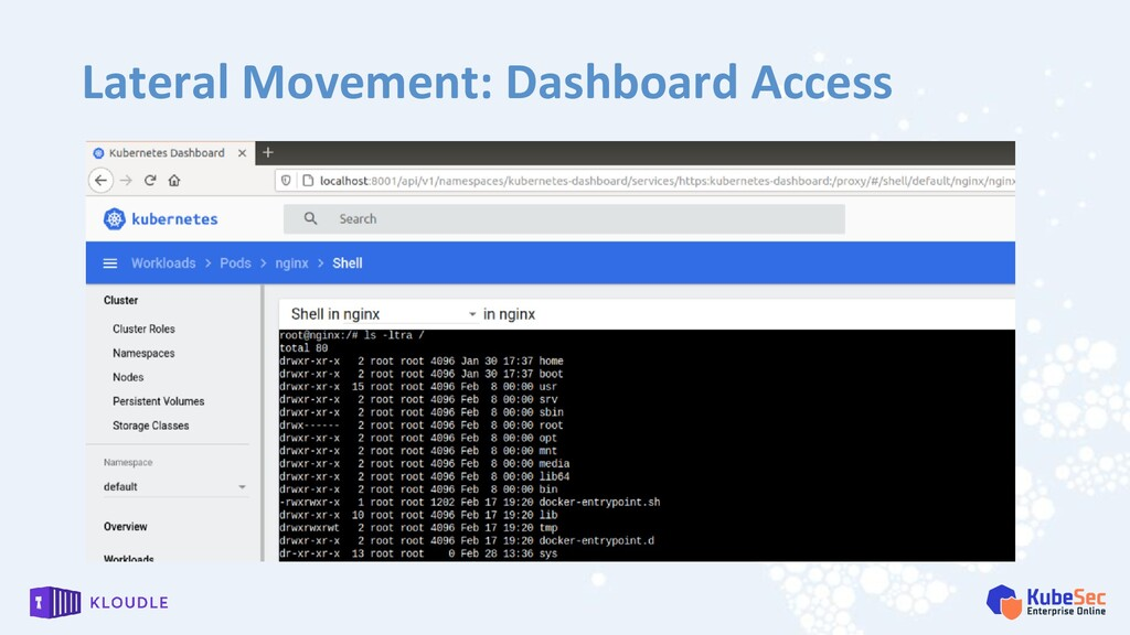 Lateral Movement: Dashboard Access