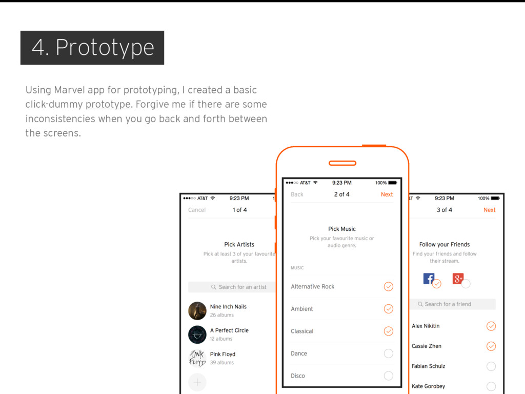 4. Prototype Using Marvel app for prototyping, ...