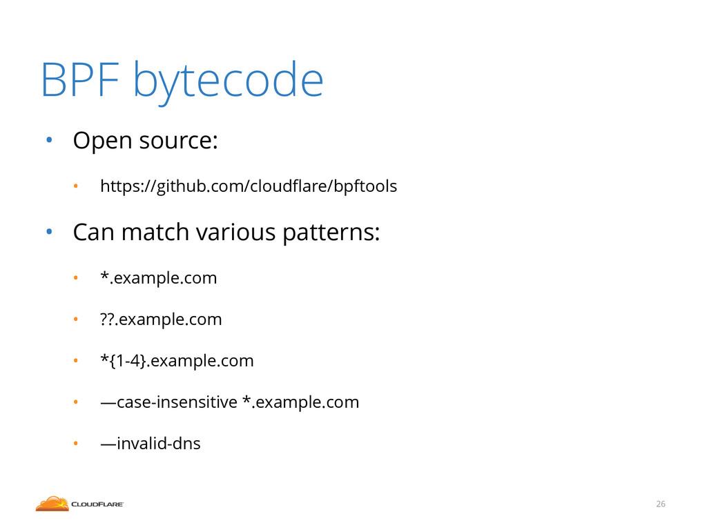 BPF bytecode • Open source: • https://github.co...