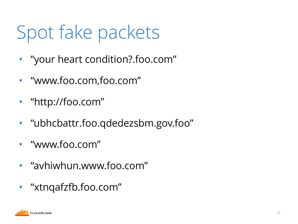 """Spot fake packets • """"your heart condition?.foo...."""