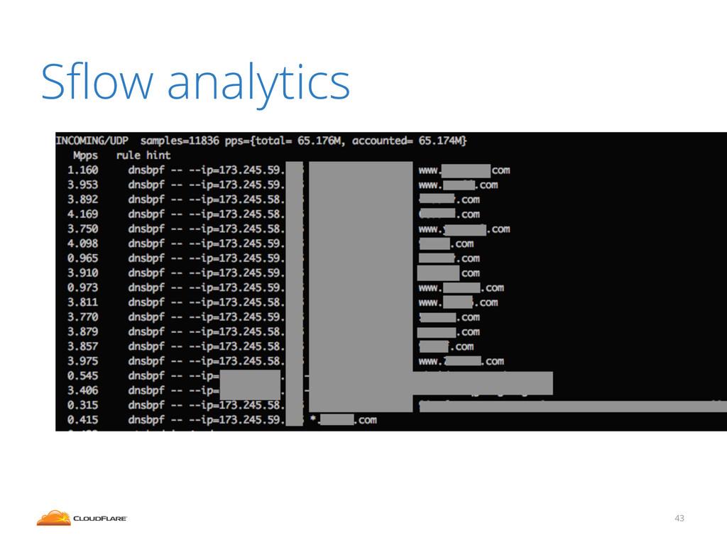 Sflow analytics 43