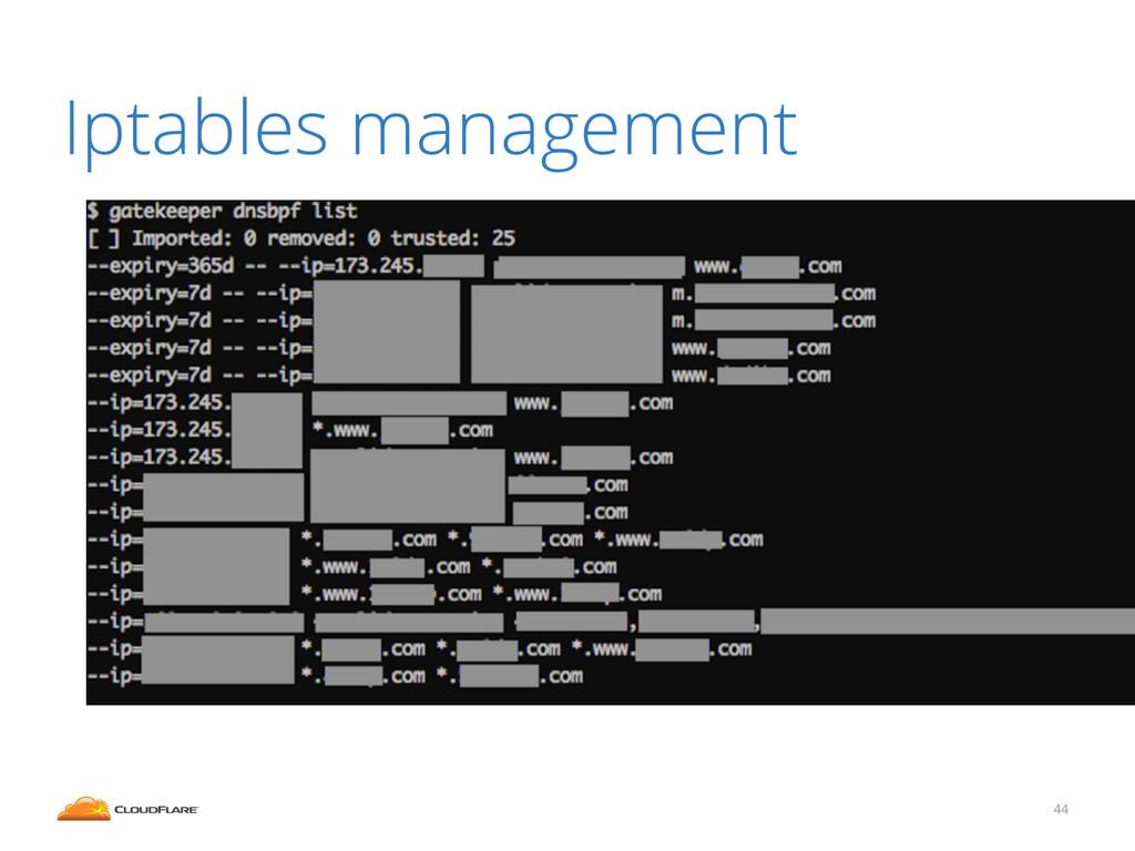 Iptables management 44