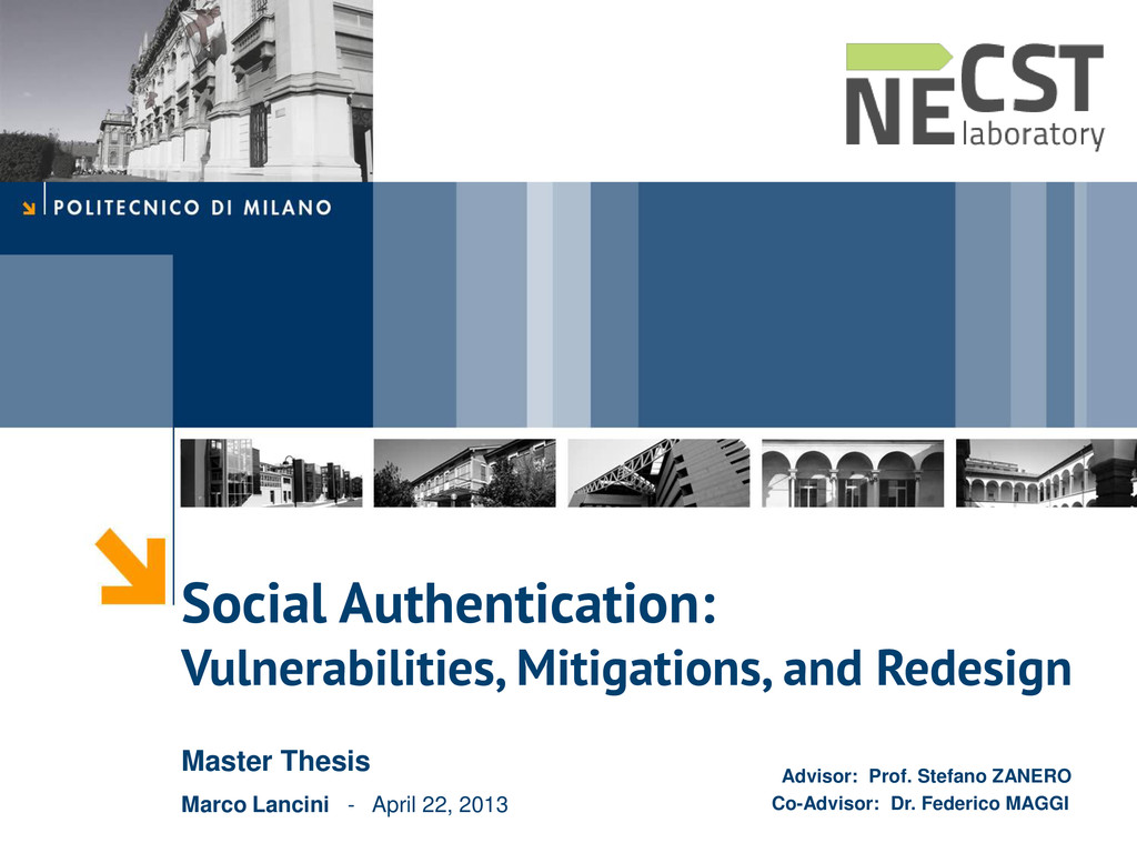 Social Authentication: Vulnerabilities, Mitigat...