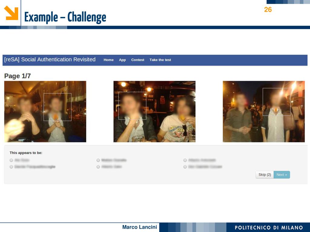 Marco Lancini Example – Challenge 26