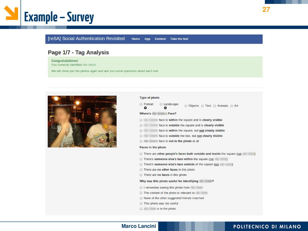 Marco Lancini Example – Survey 27