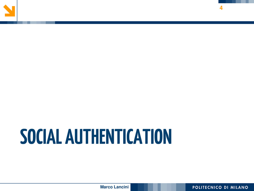Marco Lancini SOCIAL AUTHENTICATION 4