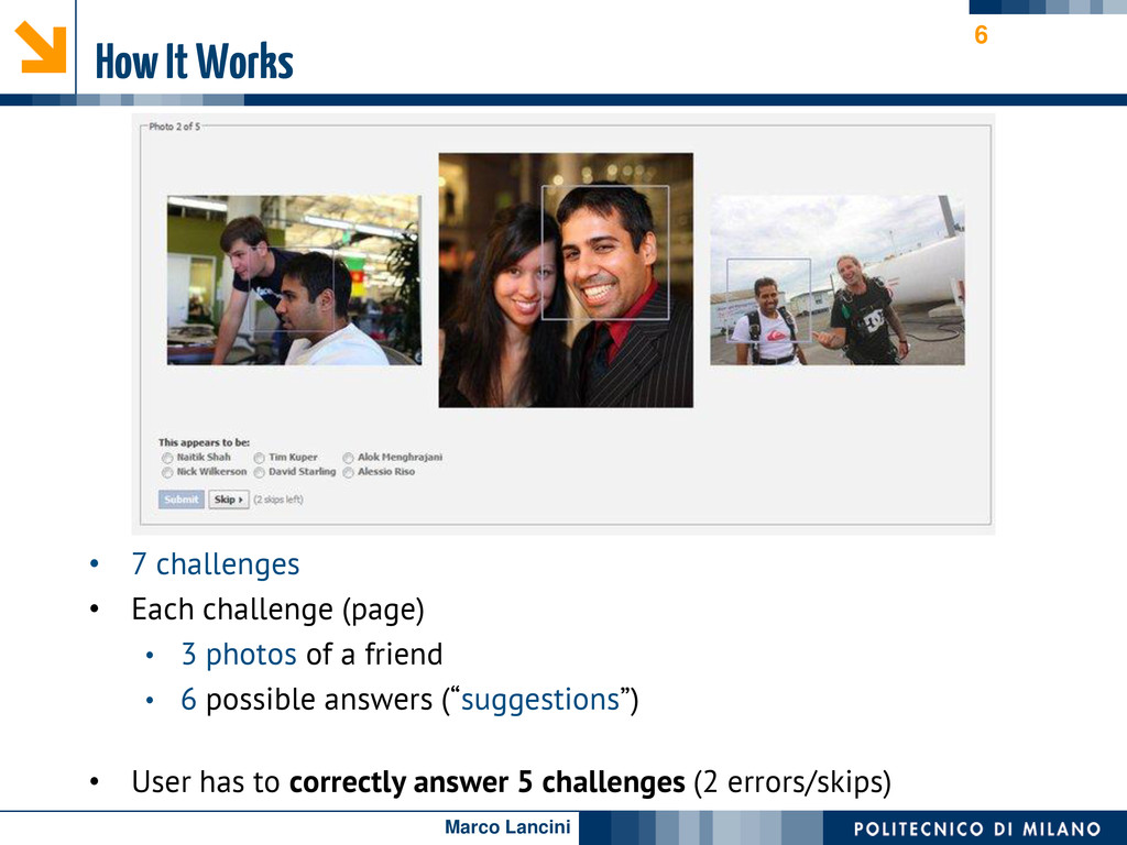 Marco Lancini How It Works • 7 challenges • Eac...