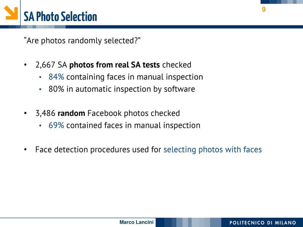 """Marco Lancini SA Photo Selection """"Are photos ra..."""