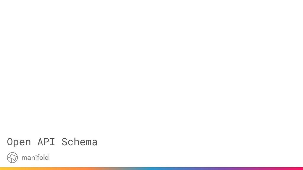 Open API Schema