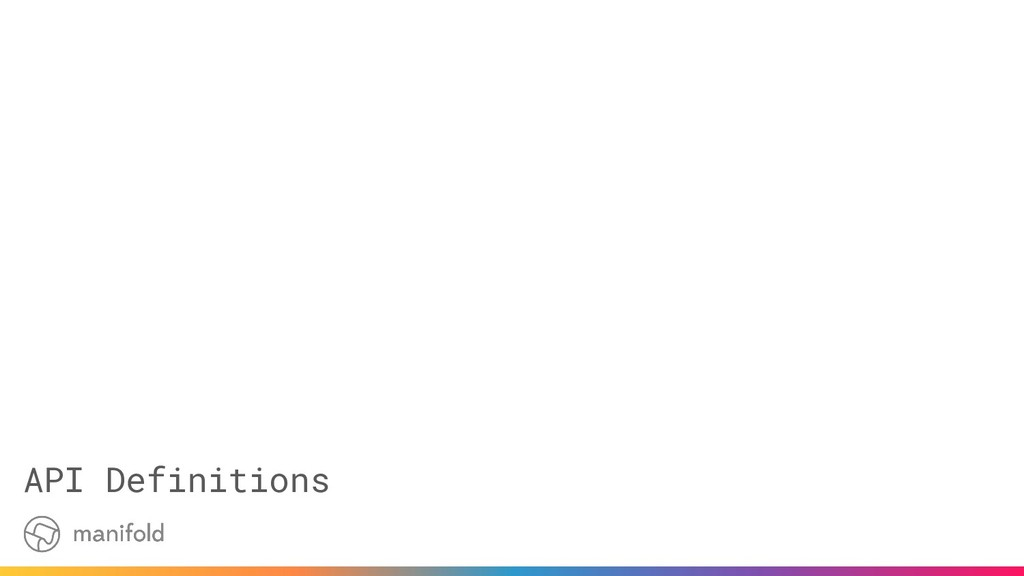API Definitions