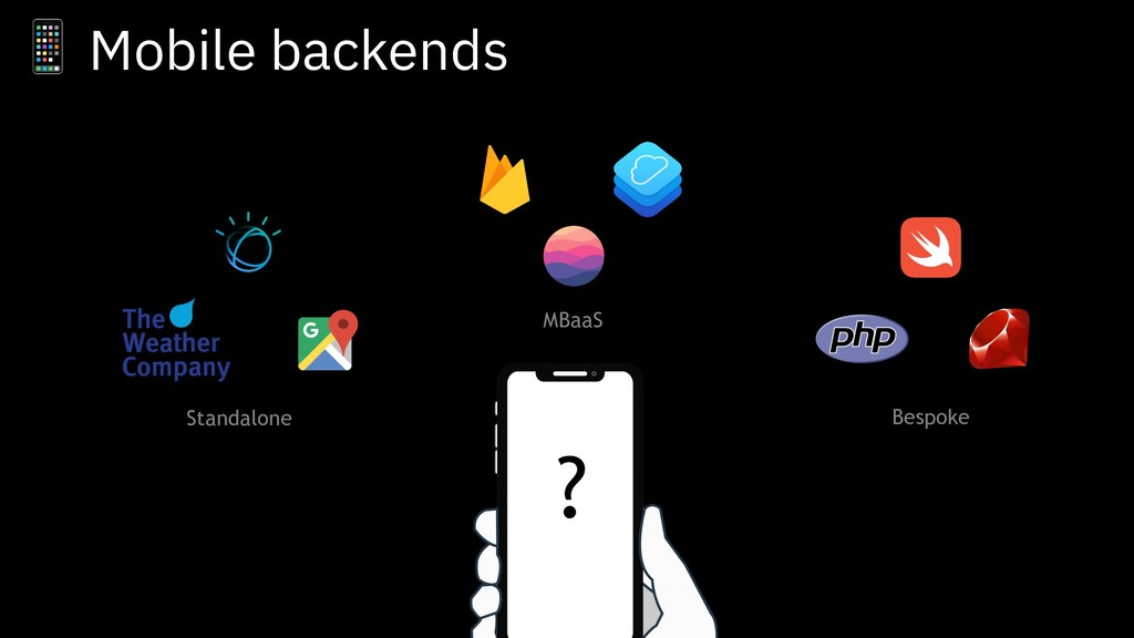 ? Standalone MBaaS Bespoke  Mobile backends