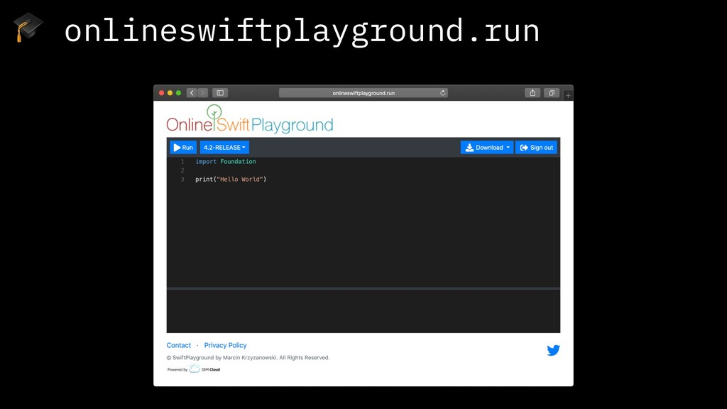 onlineswiftplayground.run