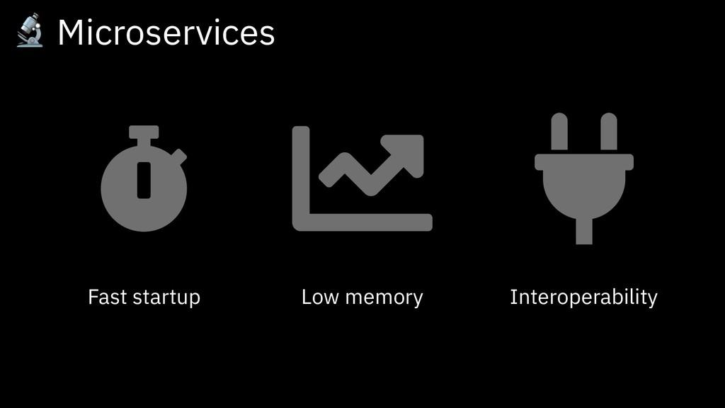 Fast startup Low memory Interoperability  Micro...