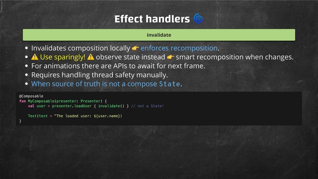 E ect handlers  invalidate Invalidates composit...