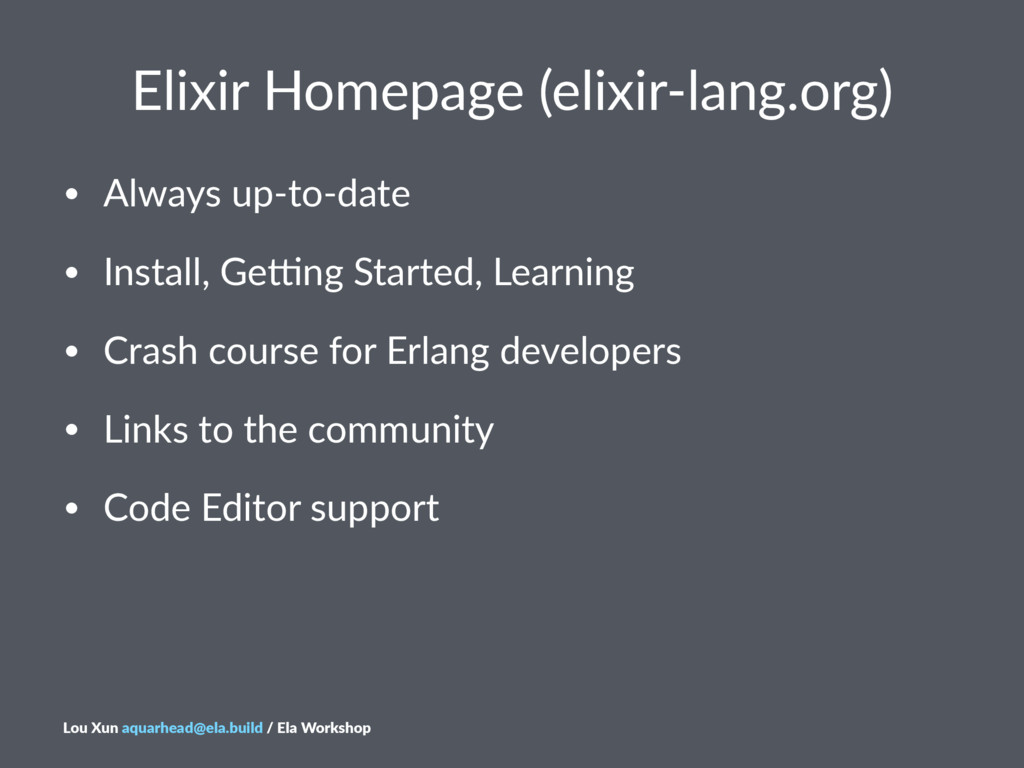 Elixir&Homepage&(elixir/lang.org) • Always(up+t...