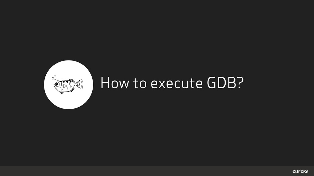 How to execute GDB?