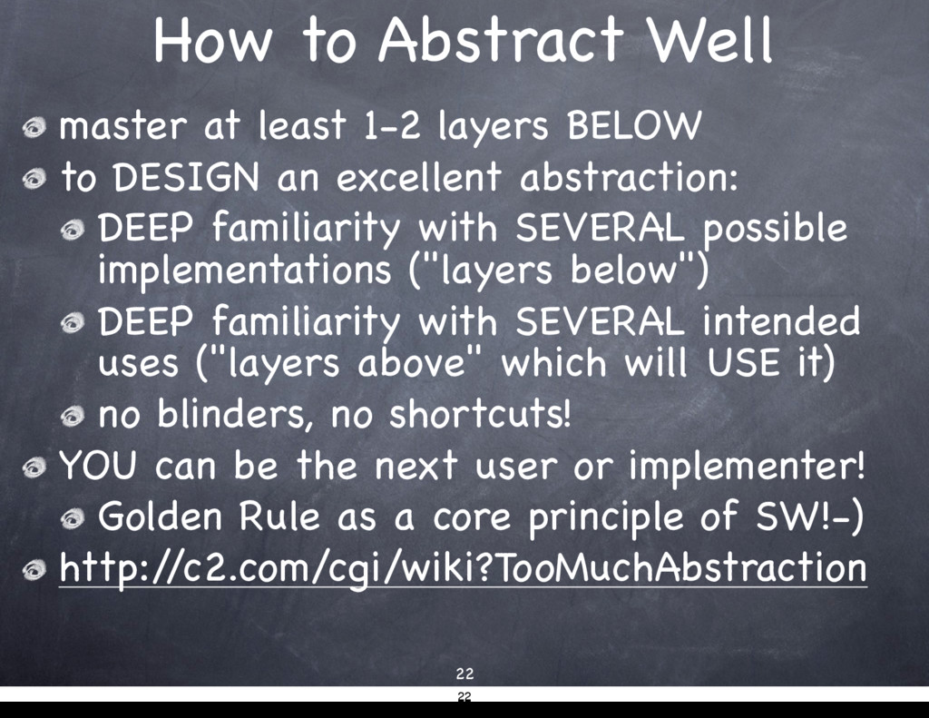How to Abstract Well 22 master at least 1-2 lay...