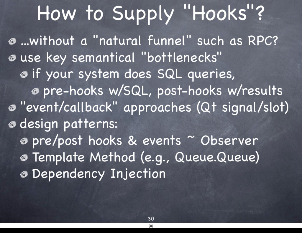 "How to Supply ""Hooks""? ...without a ""natural fu..."