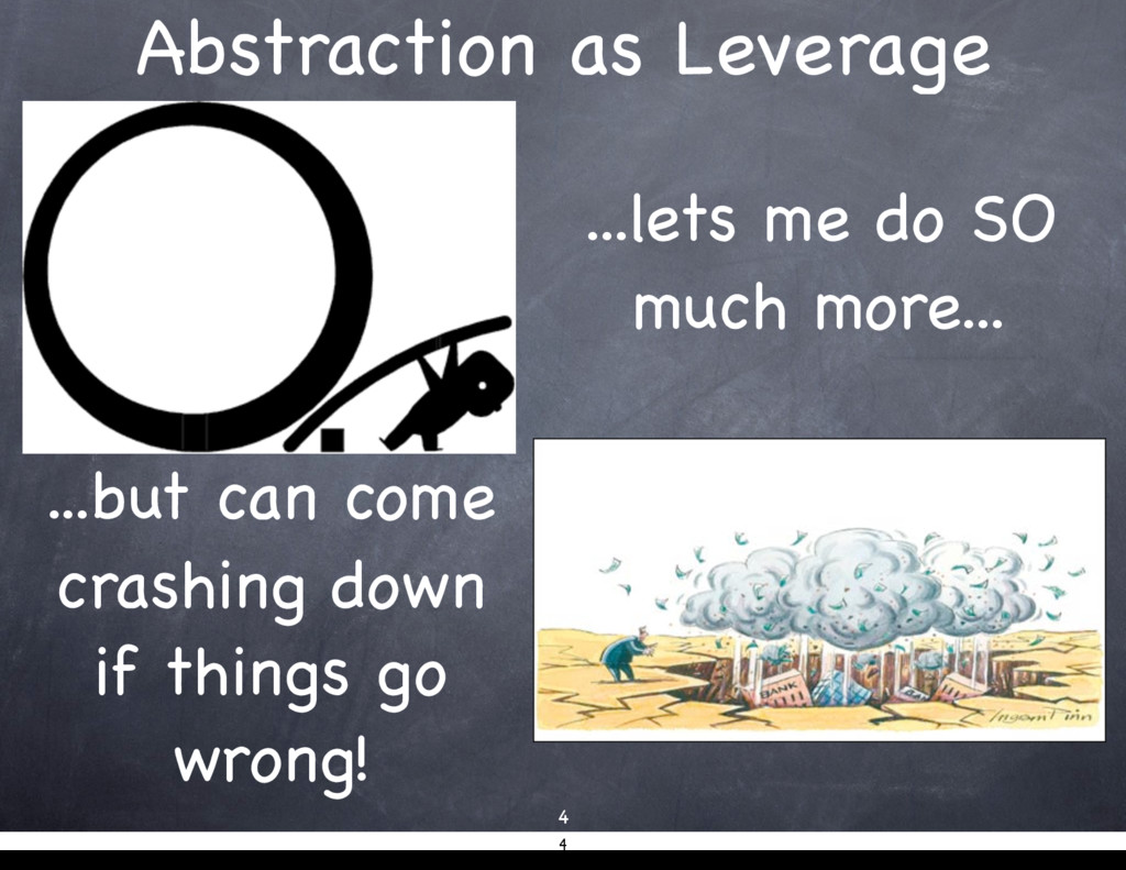 Abstraction as Leverage 4 ...lets me do SO much...