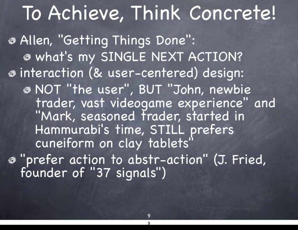 "To Achieve, Think Concrete! Allen, ""Getting Thi..."