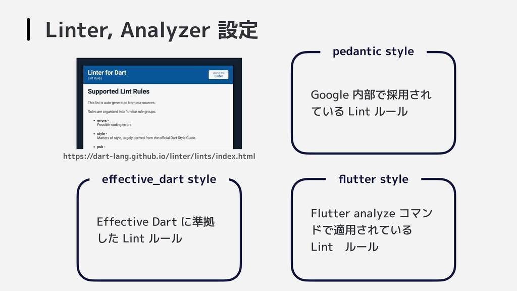 effective_dart style  Effective Dart に準拠 した Lin...