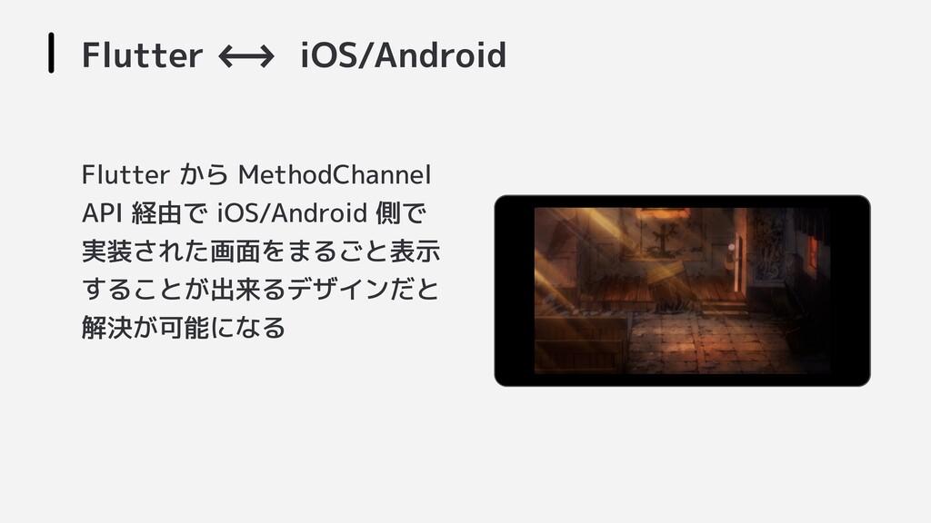 Flutter <-->- iOS/Android Flutter から MethodChan...