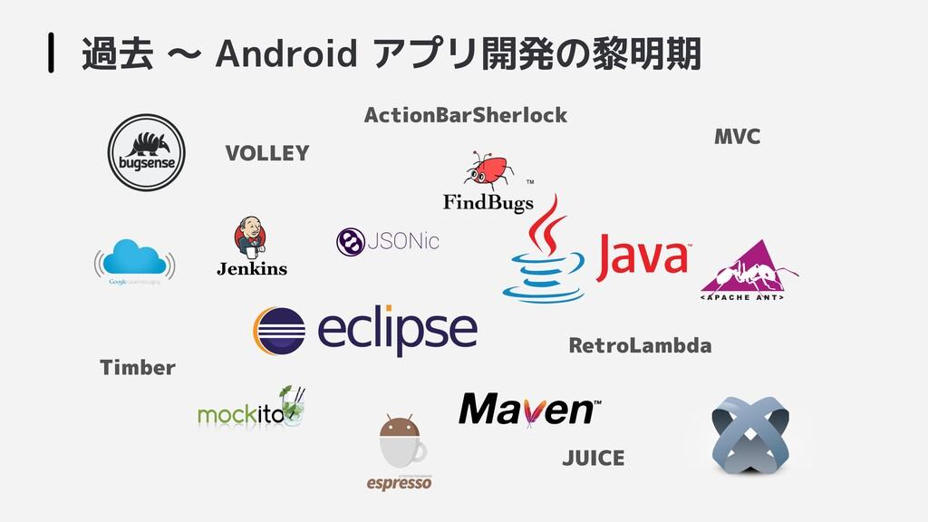 過去 〜 Android アプリ開発の黎明期  RetroLambda MVC VOLLEY ...