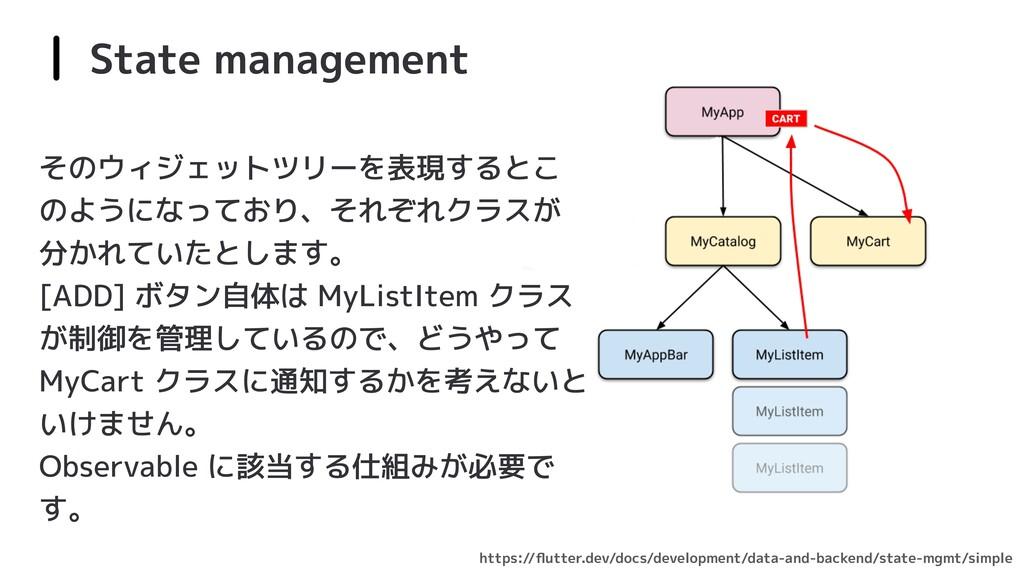 State management https://flutter.dev/docs/develo...