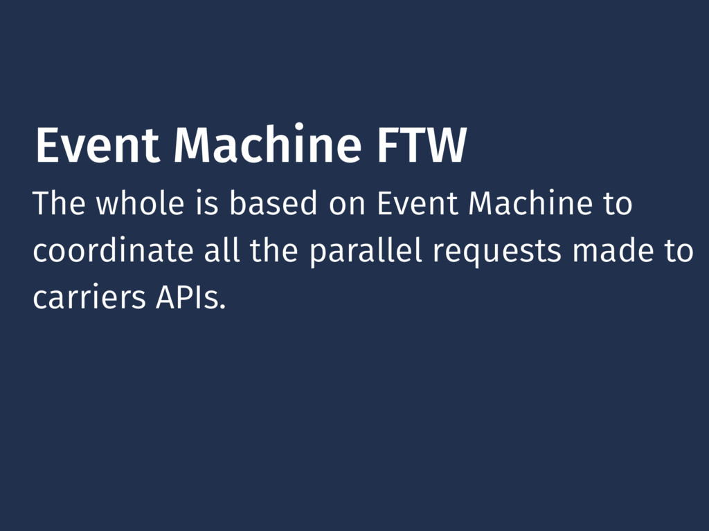 Event Machine FTW The whole is based on Event M...