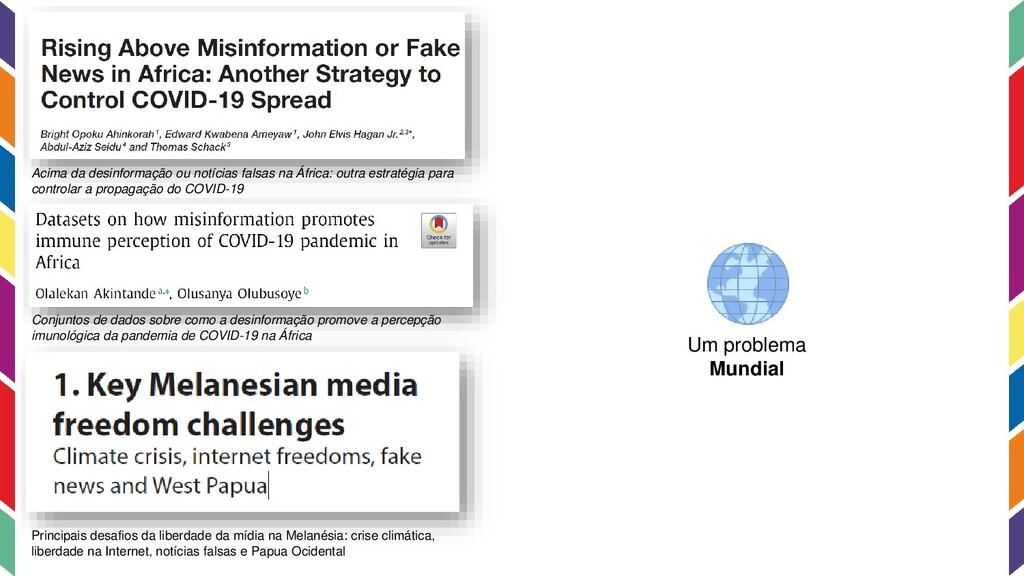 Acima da desinformação ou notícias falsas na Áf...