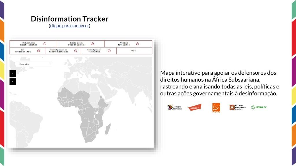Disinformation Tracker (clique para conhecer) M...