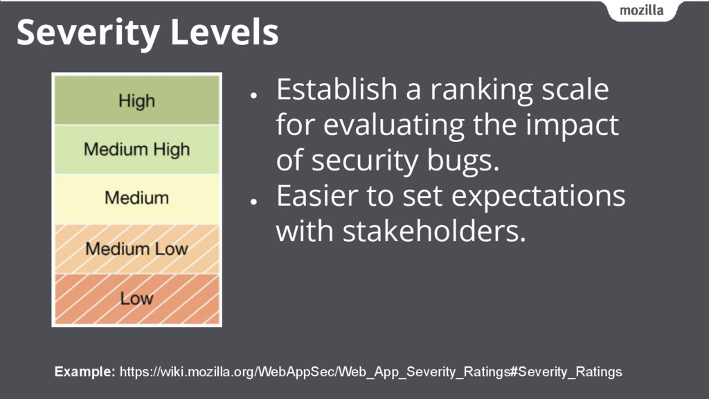 ● Establish a ranking scale for evaluating the ...