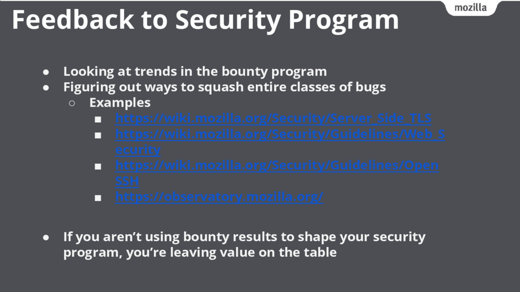 ● Looking at trends in the bounty program ● Fig...