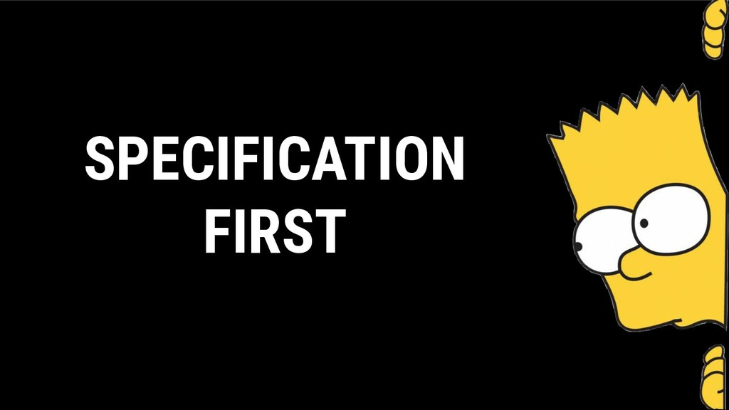 SPECIFICATION FIRST