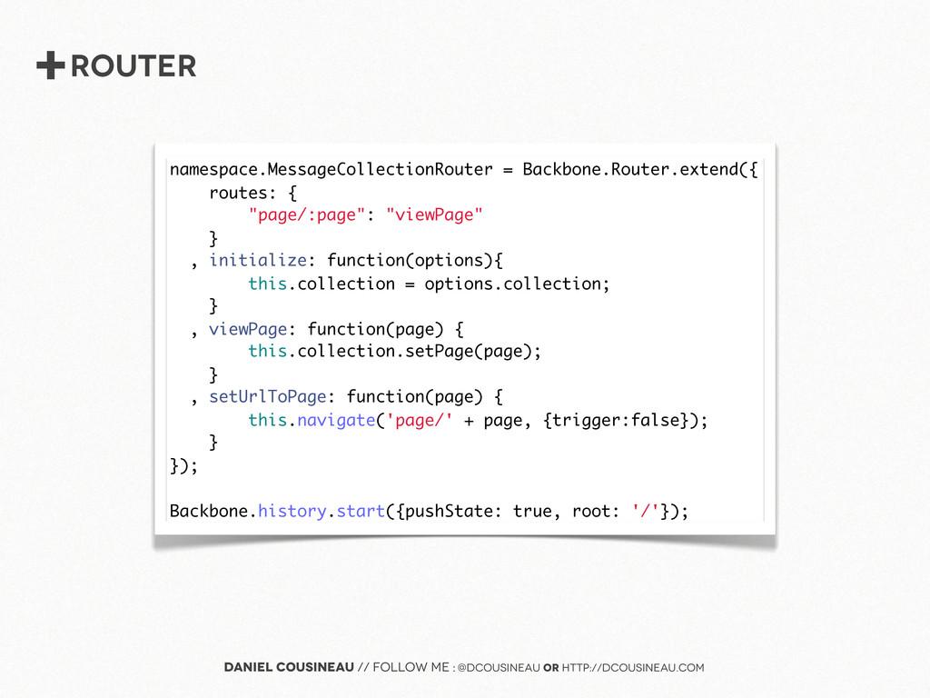 +router Daniel Cousineau // follow me : @dcousi...