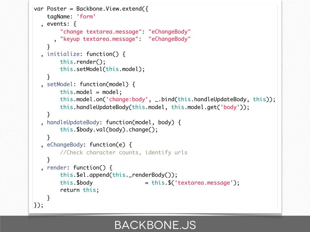 var Poster = Backbone.View.extend({ tagName: 'f...