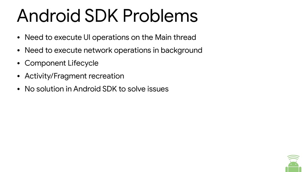 Android SDK Problems • Need to execute UI opera...