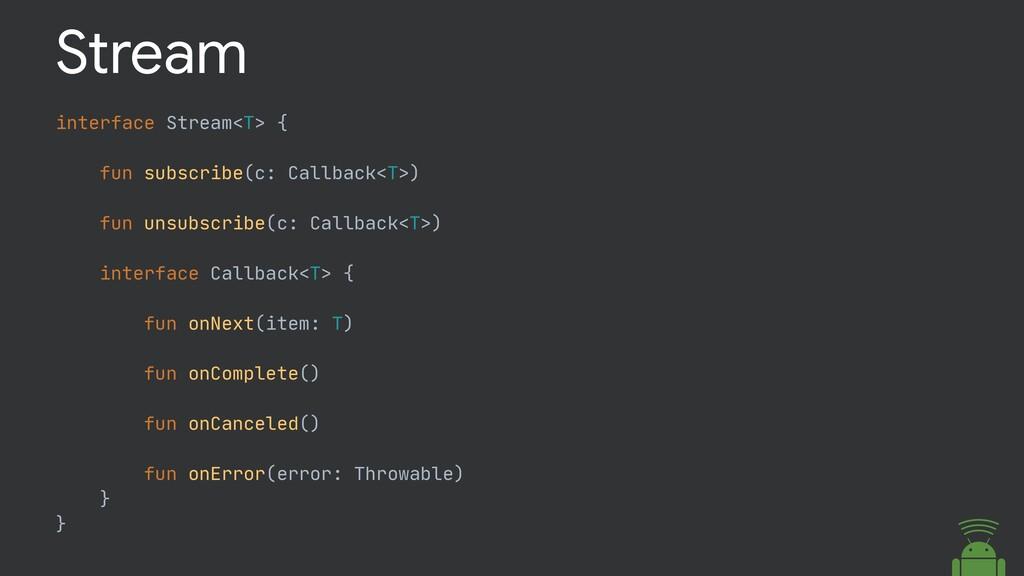 interface Stream<T> {  fun subscribe(c: Callbac...