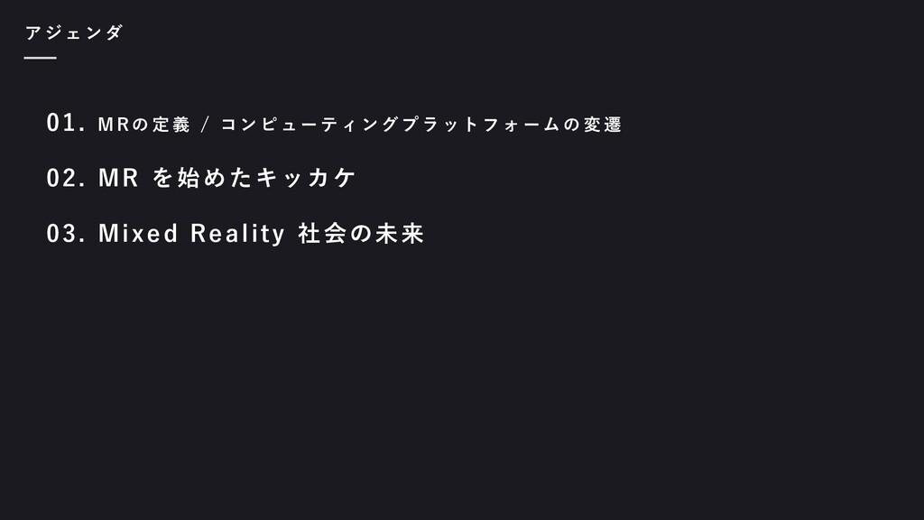 01. M R の 定 義 / コ ン ピ ュ ー テ ィ ン グ プ ラ ッ ト フ ォ ー...