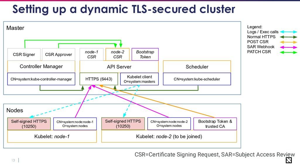 13 Setting up a dynamic TLS-secured cluster Nod...