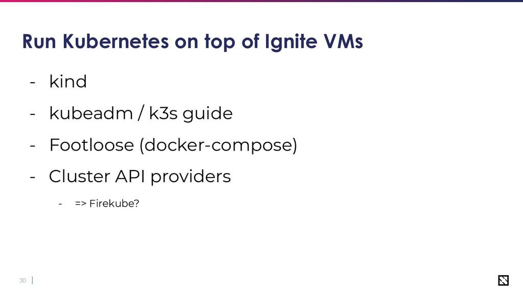 30 Run Kubernetes on top of Ignite VMs - kind -...