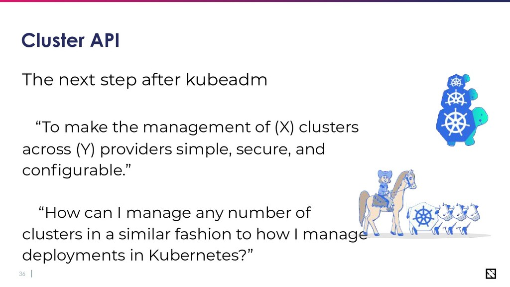 """36 Cluster API The next step after kubeadm """"To ..."""