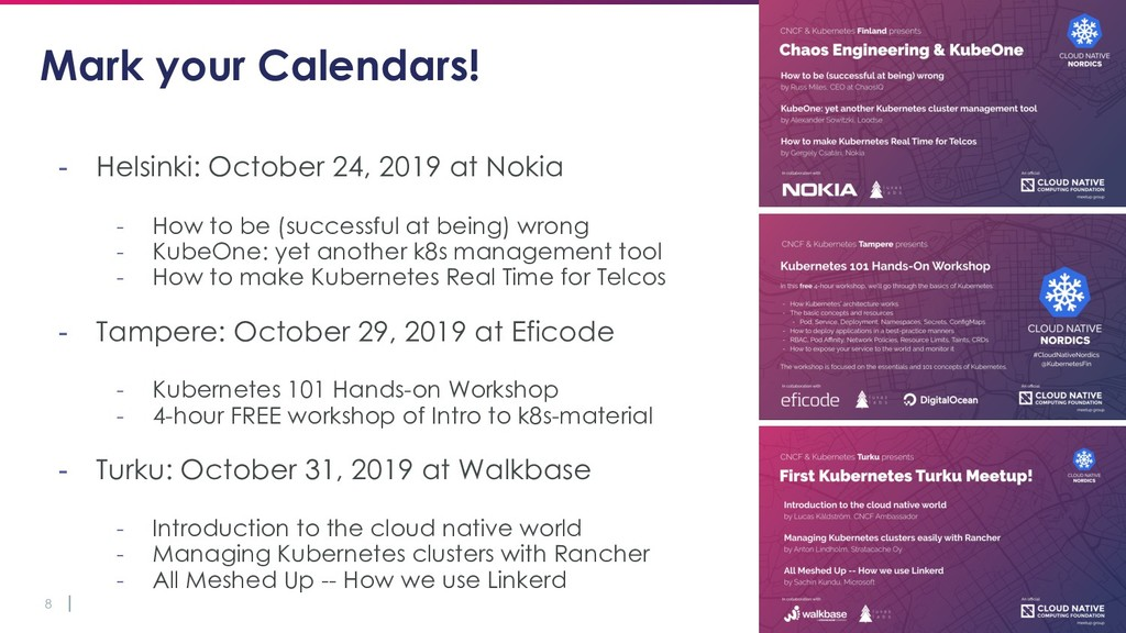 8 Mark your Calendars! - Helsinki: October 24, ...