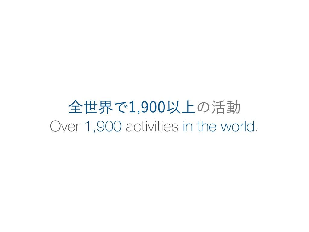 Over 1,900 activities in the world. શੈքͰҎ্...
