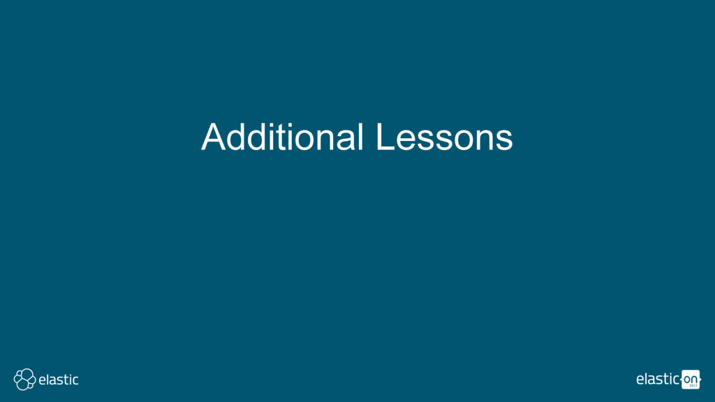 Additional Lessons